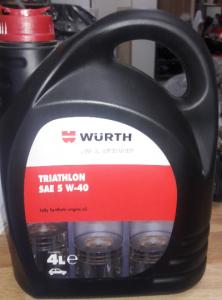 שמן מנוע WURTH - 4 ליטר